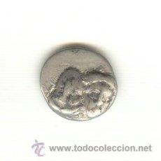Monedas Grecia Antigua: RARA ESTATERA PLATA ISTROS TRACIA AÑO 400-350 A.C. GEMELOS ÁGUILA Y DELFIN FICHA SUBASTA. Lote 22238142