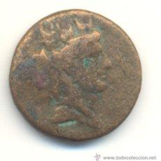 Monedas Grecia Antigua: BRONCE DE FENICIA AE 22 MM. CABEZA TURREADA DE TYCHE CON BONITO RESELLO BUHO SOBRE RAMA.. Lote 38168505