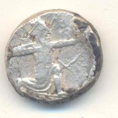 Monedas Grecia Antigua: IMPERIO AQUEMÉNIDA PERSIA RARO TETRADRACMA SATRAPAS DE CARIA (350-341 A.CRISTO) REY PERSA JINETE. Lote 41587455