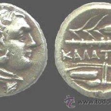 Monedas Grecia Antigua: RARO Y BONITO DRACMA O TETROBOL GRIEGO EN PLATA DE KALATIA-THRACIA 305-281 A.C.-EXCELENTE. Lote 43901389