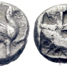 Monedas Grecia Antigua: GRIEGA ANTIGUA TEOS. JONIA. HEMIESTÁTERA 530 A.C.ANVERSO CON GRIFO SENTADO 5,8 GR CERTIFICADA CAYON. Lote 53514555
