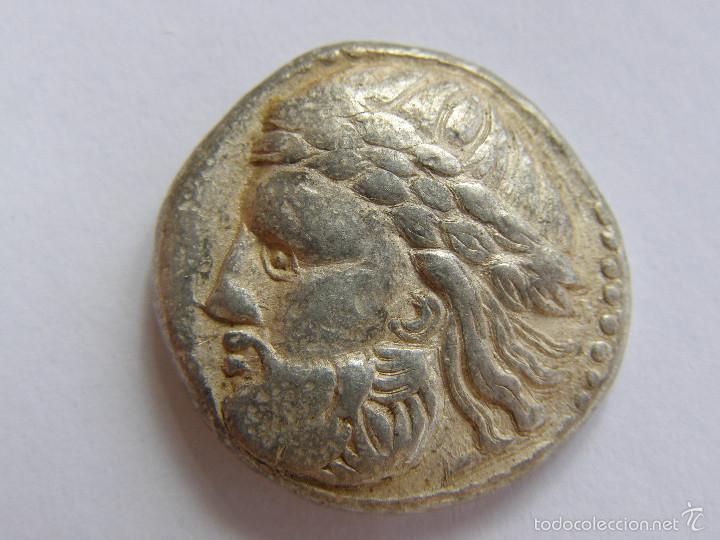 CELTAS DEL DANUBIO. MUY RARO TETRADRACMA. IMITACION FILIPO II DE MACEDONIA.III AC.ORIGINAL (Numismática - Periodo Antiguo - Grecia Antigua)