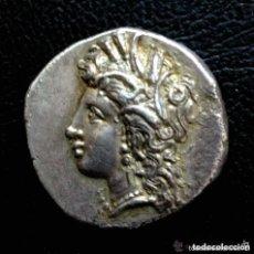 Monedas Grecia Antigua: PRECIOSA MONEDA GRIEGA PLATA LUCANIA METAPONTION CIRCA 330-290 AC AR NOMOS CABEZA DEMETER EX-CNG. Lote 103676659