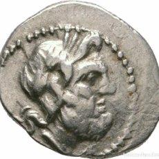 Monedas Grecia Antigua: TRIOBOL! PLATA! 160-146 AC! 2,46 G! 16MM! RARO! EBC! ACAYA, GRECIA! LIGA AQUEA! AIGIERA. Lote 103767903
