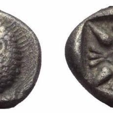 Monedas Grecia Antigua: OBOLO! PLATA! MONEDA GRIEGA! JONIA (ANATOLIA) GRECIA CECA: MILETO! EBC/EBC+. Lote 105431715