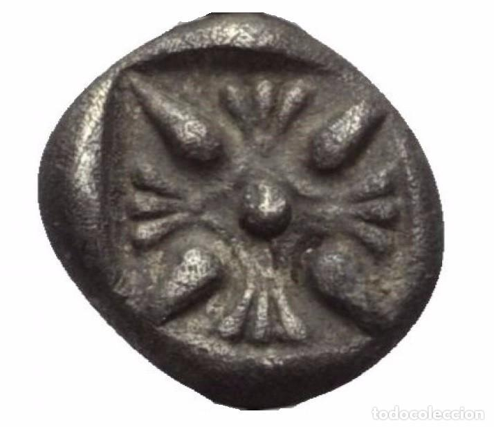 Monedas Grecia Antigua: OBOLO! PLATA! MONEDA GRIEGA! JONIA (ANATOLIA) GRECIA CECA: MILETO! EBC/EBC+ - Foto 3 - 105431715