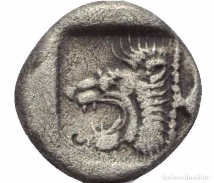 Monedas Grecia Antigua: OBOLO! PLATA! MONEDA GRIEGA! MISIA (ANATOLIA) (ACTUAL TURQUIA) CECA: CICICO! EBC JABALI Y LEON - Foto 2 - 105431807