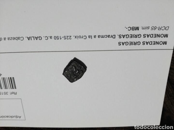 Monedas Grecia Antigua: Moneda griega. Dracma de la cruz. 225-150 aC. Galia. Cabeza-Cruz 3,01 gr MBC certificada - Foto 4 - 106080458