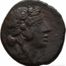 Monedas Grecia Antigua: GRECIA! PONTOS! AMISOS! BRONCE! 85-65, MITRÍDATES VI LLAMADO EUPATOR EBC-/MBC+. Lote 107292831