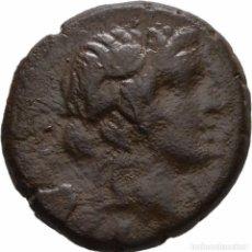 Monedas Grecia Antigua: GRECIA! PONTOS! AMISOS! BRONCE AE! 85-65 AC, MITRÍDATES VI LLAMADO EUPATOR MBC+. Lote 107292995