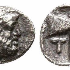 Monedas Grecia Antigua: CECA: TROAS, TENEDOS! OBOL DE PLATA! EBC-! ANV: JANO REV: HACHA LABRIS 0,46 G / 7 MM ESCASO. Lote 107819427