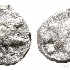 Monedas Grecia Antigua: GRECIA! MISIA CICICO! TETARTEMORION DE PLATA! JABALI / LEON 0,13 G / 7 MM. Lote 107858599