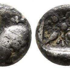 Monedas Grecia Antigua: GRECIA OBOLO (OBOL) DE PLATA! JONIA (ANATOLIA) GRECIA CECA: MILETO! EBC- (SIGLO V-VI AC). Lote 109215863