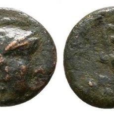 Monedas Grecia Antigua: GRECIA! AIOLIS MIRINA (MISIA) ATENEA CON CASCO / ANFORA BRONCE 0,65 G / 8 MM. Lote 109216147
