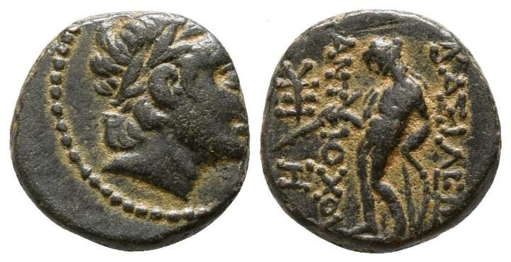 IMPERIO SELEUCIDA! GRECIA! ANTÍOCO III EL GRANDE! APOLO 2,12 G / 13 MM EBC BONITO (Numismática - Periodo Antiguo - Grecia Antigua)