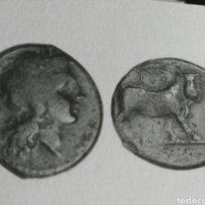 Monedas Grecia Antigua: MONEDA GRIEGA OBOLO 300-275 AC CAMPANIA NEAPOLIS.APOLO Y TORO ANDROCEFALO. AE. 3,79 GR MUY RARA. Lote 110645758