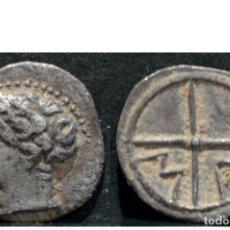 Monedas Grecia Antigua: EXCELENTE OBOLO MASSALIA GRECIA NARBONENSE SIGLOS - IV Y III A.C -REVERSO M-A PLATA. Lote 117827031