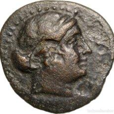 Monedas Grecia Antigua: 3378-GRECIA-MONEDA EN BRONCE DE LA CIUDAD DE KYME EN AEOLIS-AÑOS 250-190 AC-. Lote 122202243