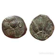 Monedas Grecia Antigua: MAURETANIA, IOL-CAESAREA. Æ 1/4 UNIDAD. 3 ESPIGAS DE TRIGO.. Lote 142661954