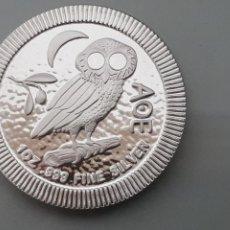 Monedas Grecia Antigua: MONEDA 2 DOLLARS 2018 NIUE 1 ONZA PLATA PURA MOCHUELO ATENEA. Lote 143575337