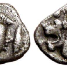 Monedas Grecia Antigua: ANTIGUA GRECIA - HEMIÓBOLO KYZIKOS, MYSIA. PLATA 450 - 400 A.C. Lote 144274226