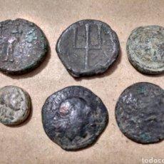 Monedas Grecia Antigua: SEIS BRONCE DIVERSOS A CLASIFICAR. BARATO LOTE. CON FICHA DE SUBASTA.. Lote 156507182