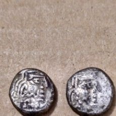 Monedas Grecia Antigua: INDIA DOS DRACMAS MATRAIKAS DE VALABHI (470-800 D.C.) MITCHINER 4897 Y 4898. Lote 156507738