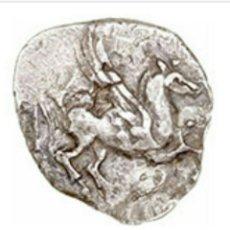 Monedas Grecia Antigua: ESCASO DRACMA AMPURIAS CABEZA PERSEFONE Y PEGASO 4,07 GR BONITA Y CON CERTIFICADO AUTÉNTICIDAD PLATA. Lote 157228165