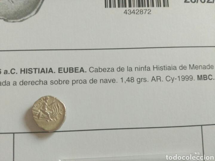 Monedas Grecia Antigua: Grecia antigua tetrobolo 197-146 Histaia Eubea ninfa racimos proa nave 1,48 gr plata MBC certificada - Foto 3 - 162732465