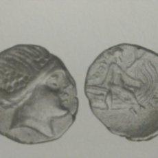 Monedas Grecia Antigua: GRECIA ANTIGUA TETROBOLO 197-146 HISTAIA EUBEA NINFA RACIMOS PROA NAVE 1,48 GR PLATA MBC CERTIFICADA. Lote 162732465