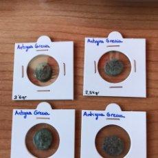 Monedas Grecia Antigua: * NUMISALVARO * MONEDAS GRIEGAS LOTE 4 PIEZAS VER FOTOS. Lote 165268058