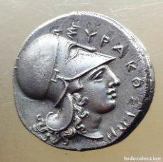 Monedas Grecia Antigua: PRECIOSA MONEDA GRIEGA PLATA ESTATERA TIMOLEON SIRACUSA SICILIA 330 - 310 AC CABALLO PEGASO. Lote 174236624