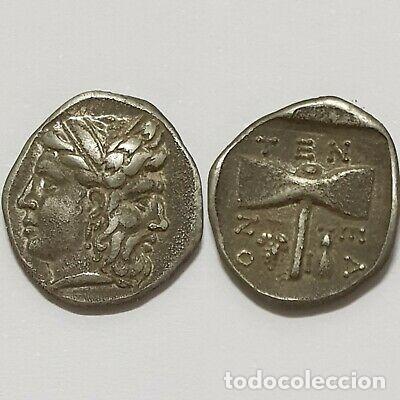 DRACMA GRECIA PLATA. PHILOMENA Y TENES. (Numismática - Periodo Antiguo - Grecia Antigua)