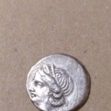 Monedas Grecia Antigua: BONITO CUARTO DE SHEKEL DE CARTAGO ZEUGITANIA SEGUNDA GUERRA PÚNICA (221-201 A.C.) TANIT. Lote 183401101