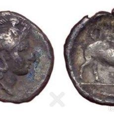 Monedas Grecia Antigua: LUCANIA, THOURIOI, AR TRIOBOL,400-350 BC, PLATA, MBC. Lote 183744137