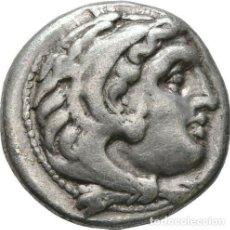 Monedas Grecia Antigua: GRECIA ANTIGUA - IMPERIO MACEDONIO. ALEJANDRO III MAGNO (336-323 A.C.) A R DRACMA - 4,21 GR. PLATA. Lote 187143151