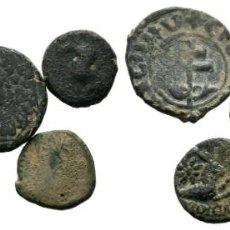 Monedas Grecia Antigua: LOTE DE 5 MONEDAS ANTIGUAS. ESCASAS. Lote 192649448