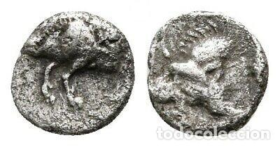 MYSIA CICICOS HEMIOBOL JABLÍ/LEÓN 0,34 G / 7 MM MBC (Numismática - Periodo Antiguo - Grecia Antigua)