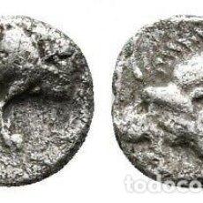 Monedas Grecia Antigua: MYSIA CICICOS HEMIOBOL JABLÍ/LEÓN 0,34 G / 7 MM MBC. Lote 195790057