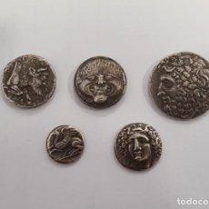 Monedas Grecia Antigua: LOTE DE 5 TETRADRACMAS Y DRACMAS ANTIGUA GRECIA. Lote 196887710