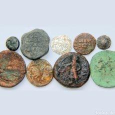 Monete Grecia Antica: LOTE DE 9 MONEDAS DESDE SIGLO 1 A IDENTIFICAR(1) PLATA. Lote 198567387