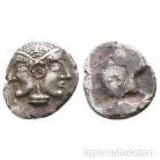 Moedas Grécia Antiga: MISIA. MYSIA LAMPSAKOS DIOBOL - ARCAICO - ARCHAIC 0,74 G / 8 MM. PLATA. EBC. Lote 224265261