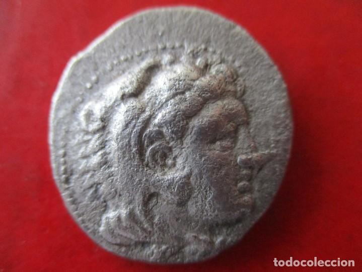 TETRADRACMA DE ALEJANDRO MAGNO. THASOS 333/327 AC. #SG (Numismática - Periodo Antiguo - Grecia Antigua)