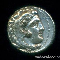 Monedas Grecia Antigua: GRECIA - TETRADRACMA DE PLATA DE ALEJANDRO III MAGNO. 11,88 GRAMOS. ORIGINAL.. Lote 204701907