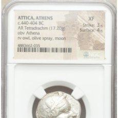 Monedas Grecia Antigua: GRECIA (ANTIGUA) - ÁTICA, ATENAS. TETRADRACMA, 454-404 A.C. - PLATA NGC XF 3/5 - 4/5. EBC+. Lote 206236152