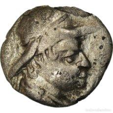 Monedas Grecia Antigua: MONEDA, BACTRIA, EUKRATIDES I, OBOL, 170-145 BC, BC+, PLATA, SNG ANS:487. Lote 207141900