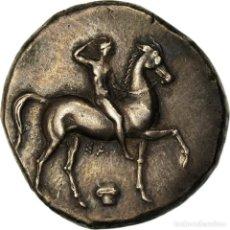 Monedas Grecia Antigua: MONEDA, CALABRIA, STATER, C. 302 BC, TARENTUM, EBC, PLATA, HN ITALY:947. Lote 207150500