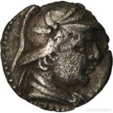 Monedas Grecia Antigua: MONEDA, BACTRIA, EUKRATIDES I, OBOL, 170-145 BC, MBC, PLATA, SNG ANS:487. Lote 207152797