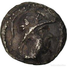 Monedas Grecia Antigua: MONEDA, BACTRIA, EUKRATIDES I, OBOL, 170-145 BC, BC+, PLATA, SNG ANS:496. Lote 207152801