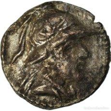 Monedas Grecia Antigua: MONEDA, BACTRIA, EUKRATIDES I, OBOL, 170-145 BC, MBC, PLATA, SNG ANS:496. Lote 207154025
